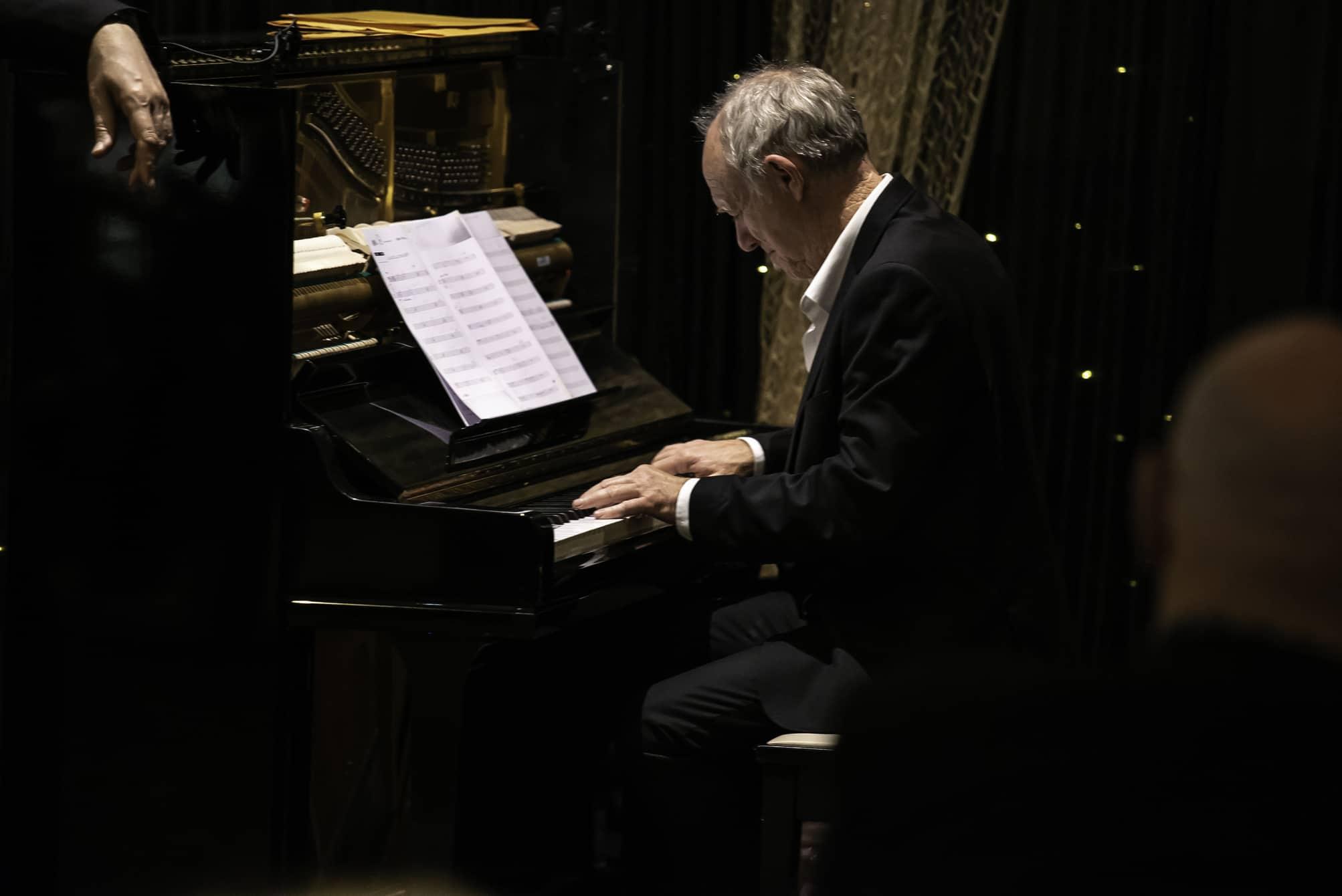 Peter Locke playing the piano