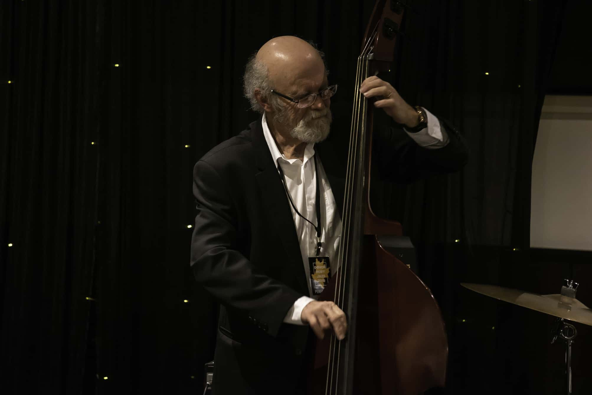 Craig Scott playing the double bass