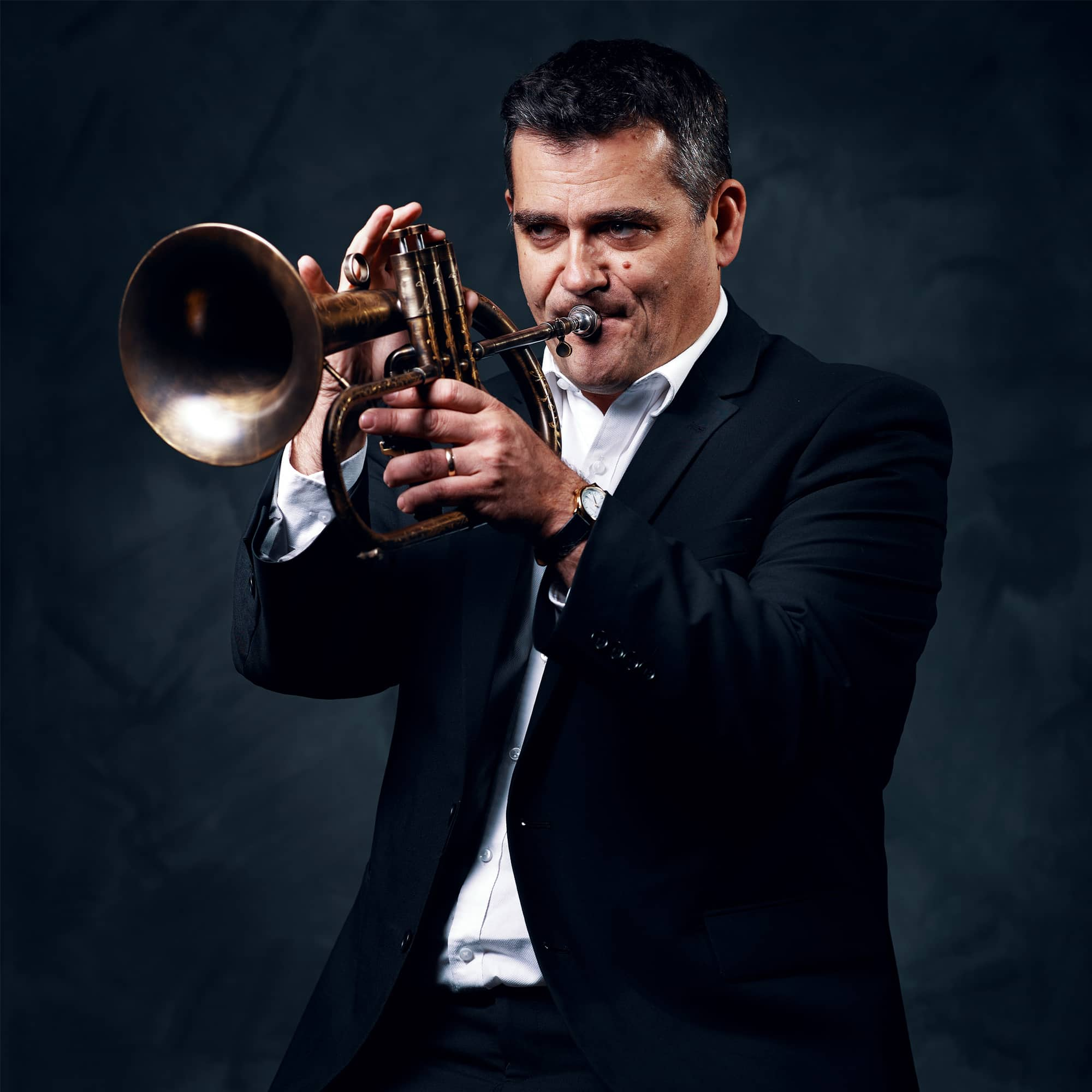 Gianni Marinucci with trumpet